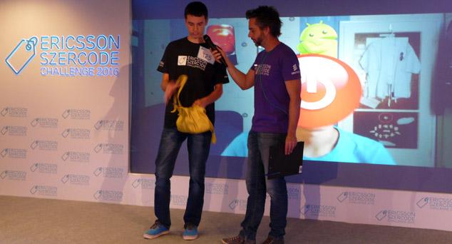 Bárdos Krisztián az Ericsson versenyén