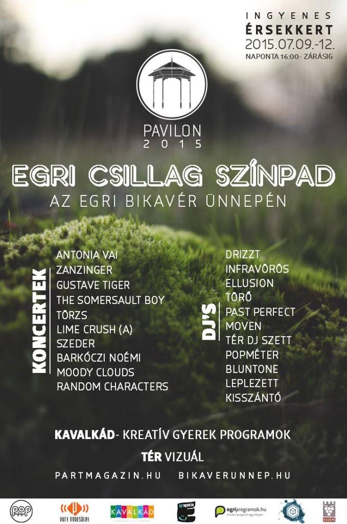 Egri csillag Színpad - Zenepavilon - 2015