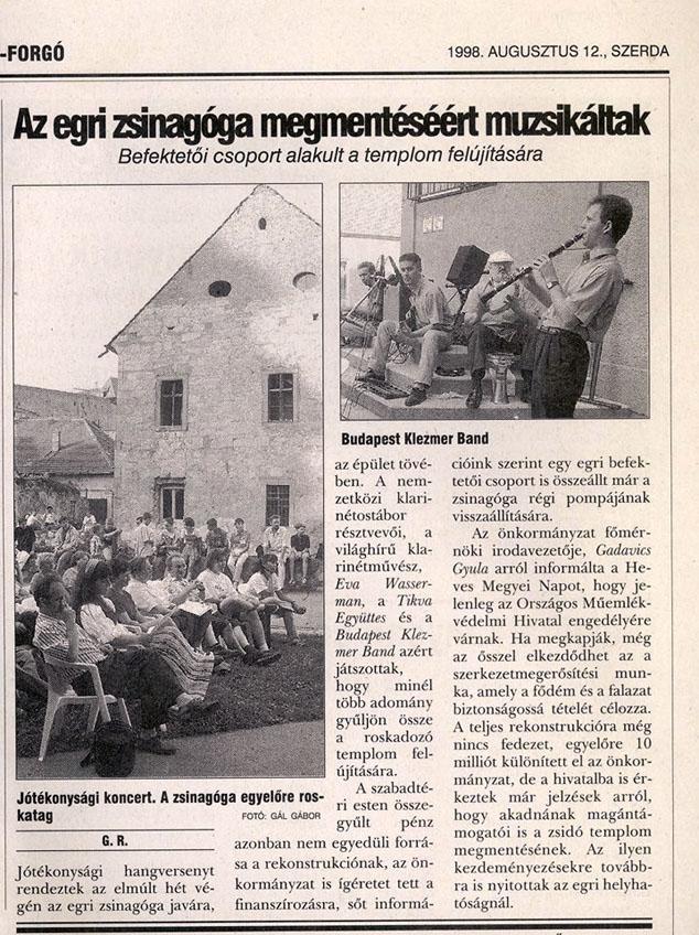 kis zsinagóga, Eger